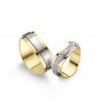 Prachtige geelgouden ringen 36 diamanten gezet – 0.02ct elk!