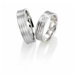 Bredere witgouden trouwringen 3 diamanten briljantslijpsel