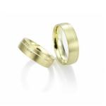 Geelgouden trouwringen 5 diamanten 0.005ct briljantslijpsel