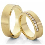 Geel gouden trouwringen 12 diamanten van 0.02 krt pavé