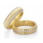 Fantastische geelgouden dames ringen 72 diamanten 1,368 crt