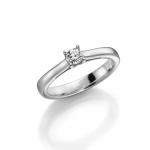 Palladium 950 verloving-/solitair ring, diamant 0.25ct TW/SI