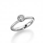 Verloving-/solitair ring palladium 950. Diamant 0.25ct TW/SI