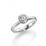 Solitair/verlovingsring uit palladium 950 Diamant 0.5ct W/SI