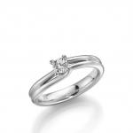 Verloving-/solitair ring in palladium 950. Diamant van 0.25ct