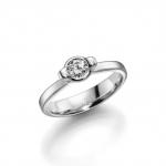 Solitair/verlovingsring witgoud 585 krt. Diamant van 0.25ct