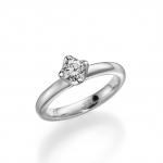 Verloving /solitair ring-palladium 950. Diamant 0.50ct W/SI.
