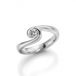Verlovings-/solitair ring-palladium 950, diamant is 0.25ct