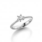 Verlovings-/solitair ring-palladium 950 diamant is 0.25 ct