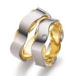 Exclusiefmodel trouwring gouden baan mat diamant 0.02ct