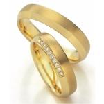 Geel gouden trouwringen 10 diamanten van 0.01ct briljant