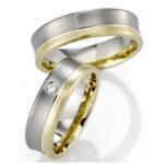 Bi-Color ringen wit-geelgoud