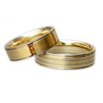 Bijzonder mooie set trouwringen 2 diamanten-cognac kleur
