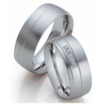 Brede (8mm) witgouden trouwringen diamant, briljant geslepen