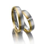 Mooie bi-color 5 mm brede trouwringen combinatie geel/witgoud