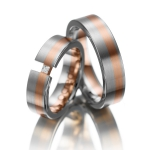 Trouwringen opengewerkt – diamant 0.05 ct princess slijpsel