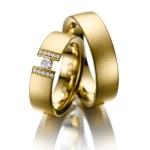 Acredo trouwringen met bijzondere uitstraling in geelgoud