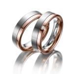 Witgouden trouwringen diamant van 0.04 ct princess slijpsel