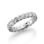 Solitaire ring van 4 mm breed diamant totaal van 2,1 ct!
