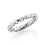 14 krt Witgouden solitair-/verlovingsring 5 diamanten 0.06 ct