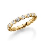 Geel gouden Solitair/aanzoeksring diamanten briljantslijpsel