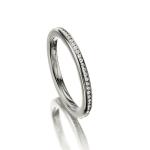 Witgouden Solitair ring met in totaal 60 diamanten 0.005 ct