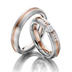Exclusieve trouw ringen Acredo grote diamant semi- spanzetting - Circles