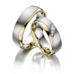 Weer zo'n mooie Circles ring! Uitgevoerd in wit en geel goud