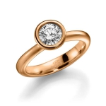 Rosé gouden verloving-/solitair ring diamant van 1 ct. GW/SI