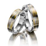 Trouwringen geelgoud 916, zilver 925 en palladium 500 - Circles