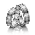 Luce di Luna-zilver 925 in combi met zilver/palladium 800