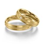 Sickinger geelgouden trouwringen met diamant van 0.025ct
