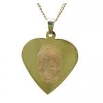 Gouden hanger hartvorm met vingerafdruk geelgoud - Circles
