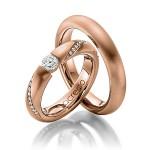 Roodgouden trouwringen met maar liefst 19 diamanten - Circles
