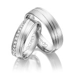 stralende set trouwringen met diamant - Circles