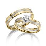 Exclusieve trouwringen in 18 karaat geel en witgoud - Circles