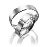 Smalle platina trouwringen gepolijst - Circles trouwringen