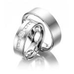 Exclusieve platina trouwringen 7 mm - Circles trouwringen