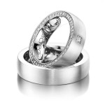 Platina trouwringen met diamanten - Circles