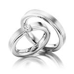Luxe set platina trouwringen - Circles