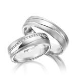 Luxe platina trouwringen - Circles