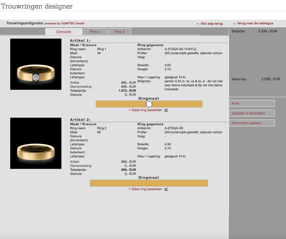 De configurator ringenoverzicht - Circles