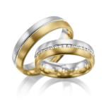 Bi-color trouwringen geel en witgoud